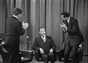 Martin Luther King discusses civil rights with Merv Griffin